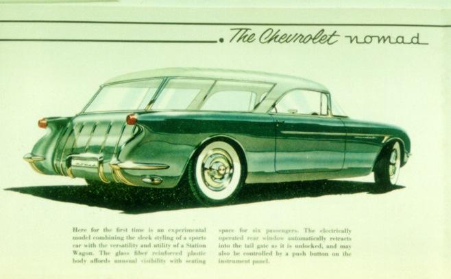#pha.014730 Photo CHEVROLET CORVETTE NOMAD CONCEPT CAR 1954 Car Auto